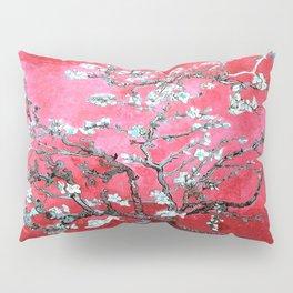 Van Gogh Almond Blossoms : Reddish Pink & Light Blue Pillow Sham