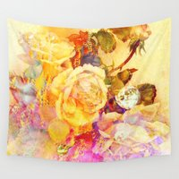 bubble Wall Tapestries featuring bubble roses by clemm