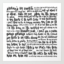 movie quotes Art Print