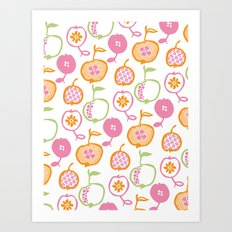 Apples Print - Orange Art Print
