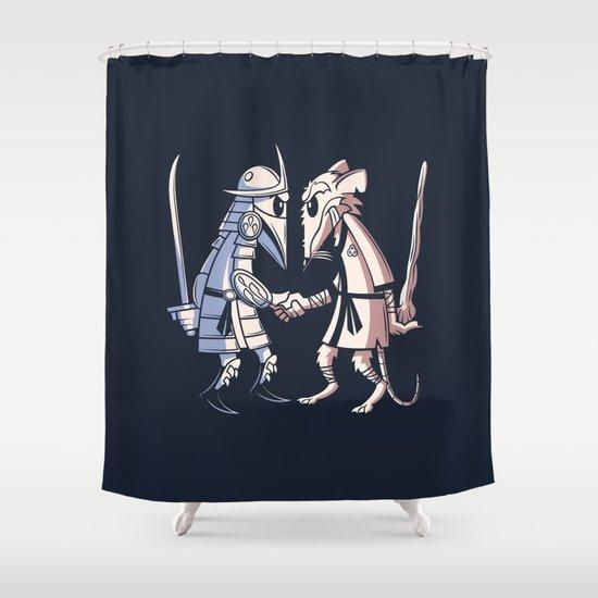 Sensei vs Sensei Shower Curtain