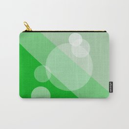 Five Spheres Abstract - Green Carry-All Pouch
