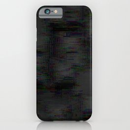 Abstract black grey glitch iPhone Case