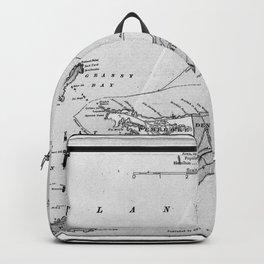 Vintage Map of Bermuda (1901) BW Backpack