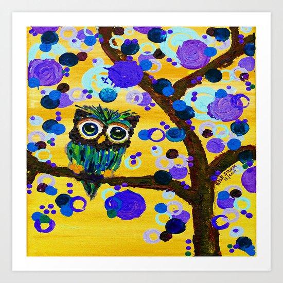 :: Sunshine Gemmy Owl :: Art Print