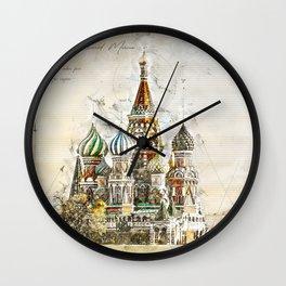 Saint Basil, Moscow Russia Wall Clock