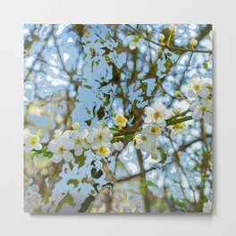 Flower branch - abstract background Metal Print
