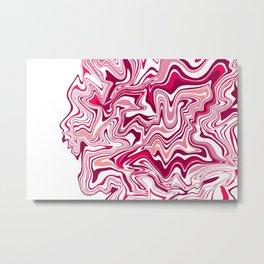 Pink Liquid Agate Metal Print