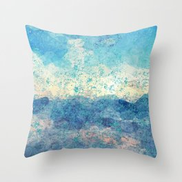 Stony Beach Surf Throw Pillow