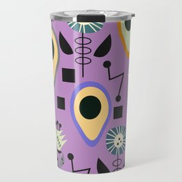 Mid-century flowers with avocados Travel Mug