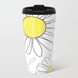 Daisies Metal Travel Mug