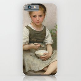 "William-Adolphe Bouguereau ""The Breakfast (Le déjeuner du matin)"" iPhone Case"