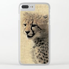 Cheetah cub Clear iPhone Case