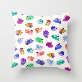 Jewel hermit crab Throw Pillow