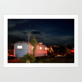 El Cosmico at Night, Marfa TX Art Print