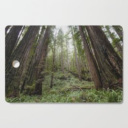 Fern Alley - Redwood Forest Nature Photography Cutting Board