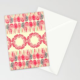 Ethnic geometric pattern Stationery Cards