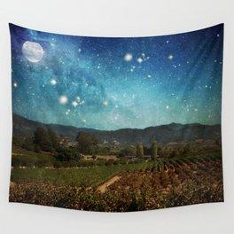 Starlit Vineyard II Wall Tapestry