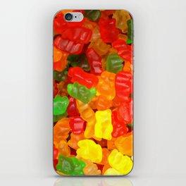 red orange yellow colorful gummy bear iPhone Skin