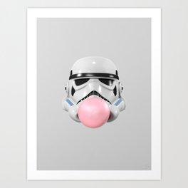Stormtrooper Bubble Gum Art Print