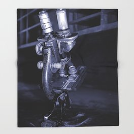 Old Microscope Throw Blanket