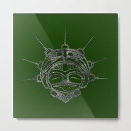 Smoke Frog Grass Metal Print