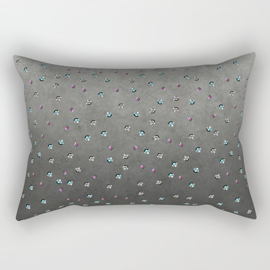 Colorful shimmering faux sequin glamour pattern Rectangular Pillow