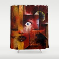 portal Shower Curtains featuring portal by sewec