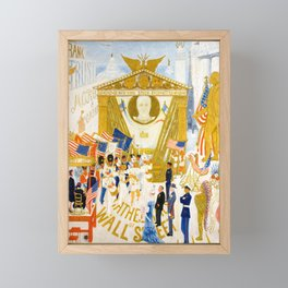 The Cathedrals of Wall Street by Florine Stettheimer, 1939 Framed Mini Art Print
