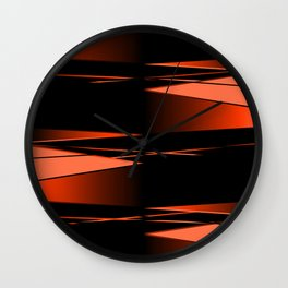Black and red Wall Clock