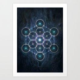 The Cube of Metatron Art Print