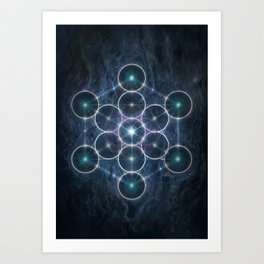 The Cube of Metatron Art Print