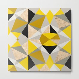 Nordic Color Block Throw Pillow Mix and Match Indoor Outdoor Cushion Cover Modern Bedding Black Yellow Slate Grey White Triangles Hexagon Metal Print