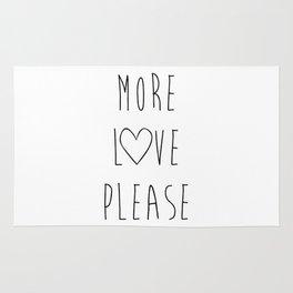 More Love Please White Rug