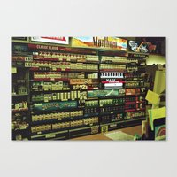 cigarettes Canvas Prints featuring cigarettes by alannahagerman