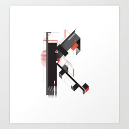 Abstract K Art Print