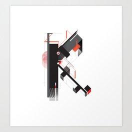 Abstract K Art Print