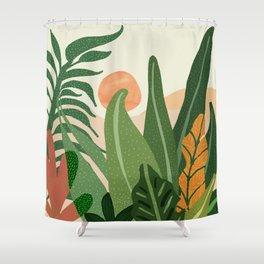 Desert Garden Sunset Shower Curtain