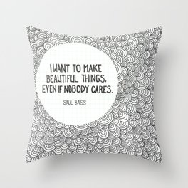 Beautiful Things Throw Pillow