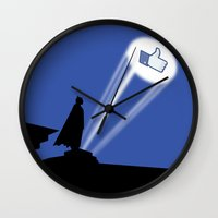 gotham Wall Clocks featuring Gotham Like by Tony Vazquez