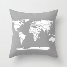 A Political Map of the World Throw Pillow