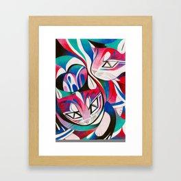 Cat Interplay 2 Framed Art Print