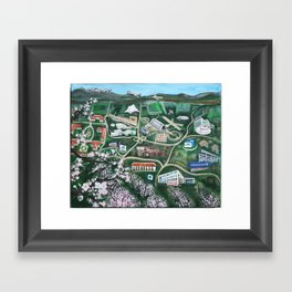 Silicon Valley Through The Ages Framed Art Print