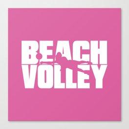 Beach volley Canvas Print