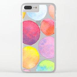Blending Bubbles Clear iPhone Case