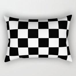 Check (Black & White Pattern) Rectangular Pillow