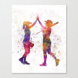 women playing softball 01 Canvas Print