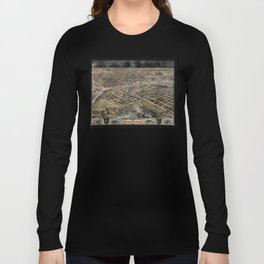 Bird's eye view of the city of Des Moines - Iowa - 1868 Long Sleeve T-shirt