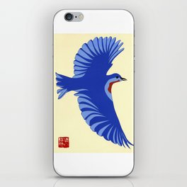 Bluebird of happiness iPhone Skin