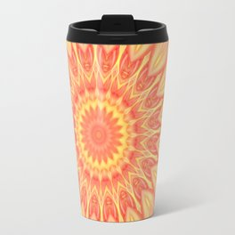Mandala Flower orange no. 1 Travel Mug